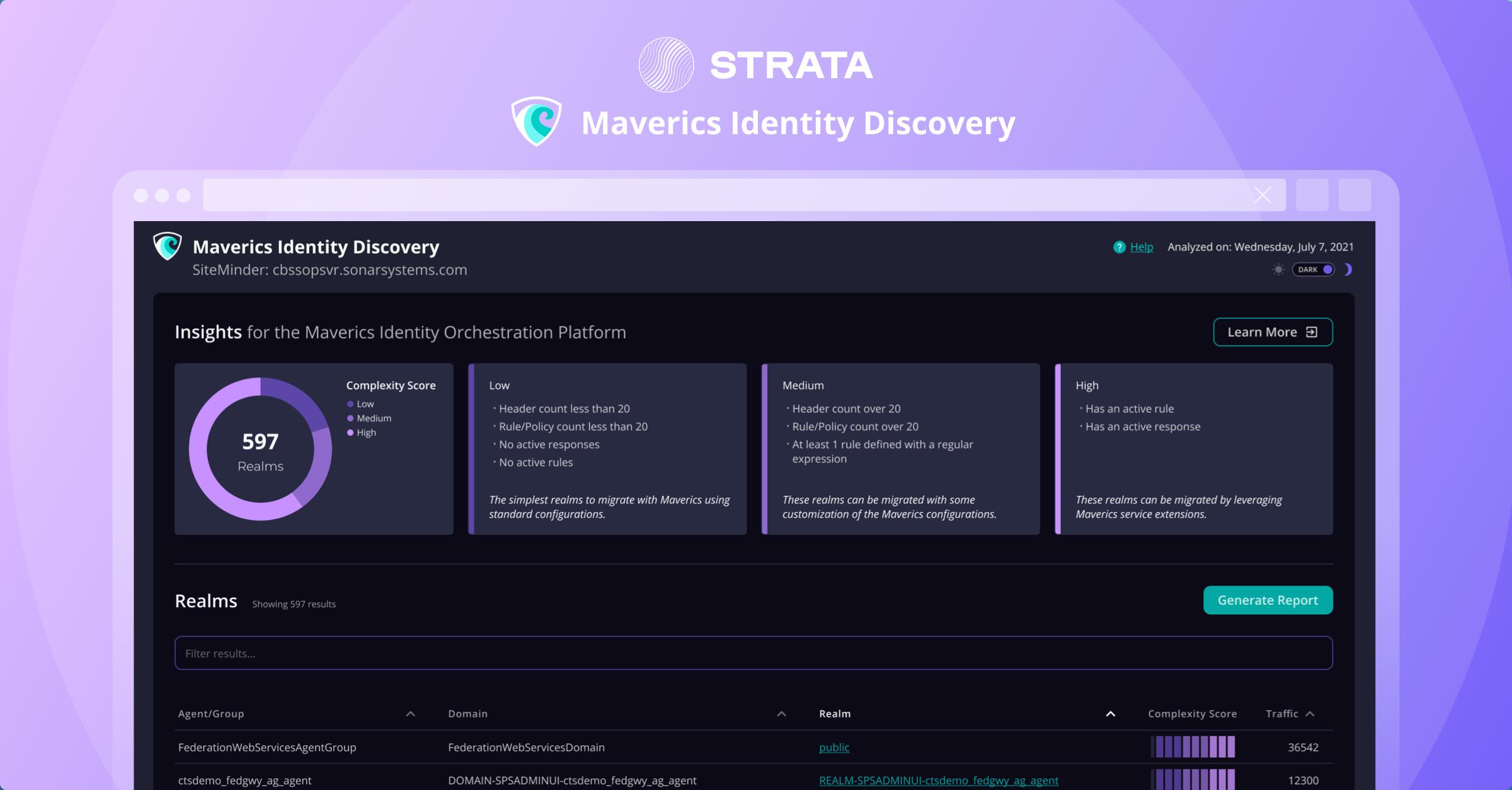 Identity Discovery screenshot - Strata.io